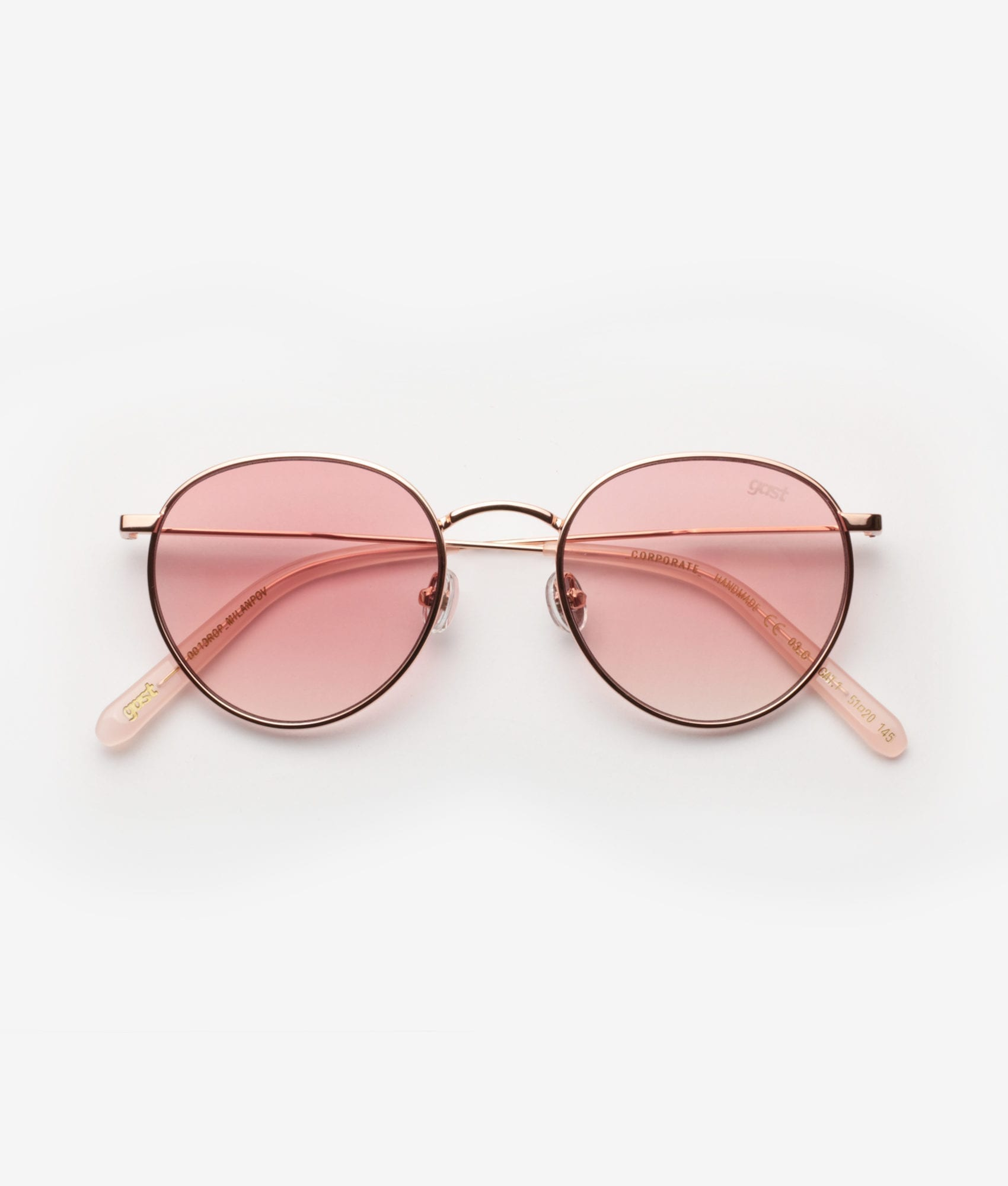 CORPORATE Rose Gold Gast Sunglasses